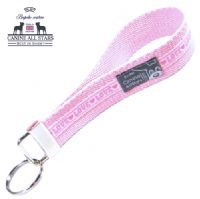 WRISTLET KEYCHAIN - LOVE PINK (RIBBON 10mm)